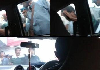 Biadab! Video Debt Collector Teriak-teriak Gedor  Pukul dan Lempar Mobil Mau ditarik Paksa, Akhir Ditahan Polisi