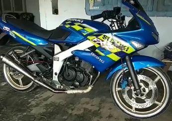 Bikin Ngakak, Video Polisi Cek Fisik Suzuki FXR Dibilang Suzuki Ninja Bermesin Satria FU, Netizen Bilang Kurang Piknik