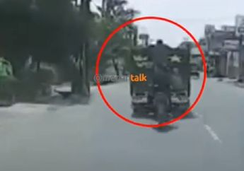 Video Bajing Loncat Jarah Truk di Siang Bolong, Nyawa Pengendara Mobil Perekam Pencurian Terancam
