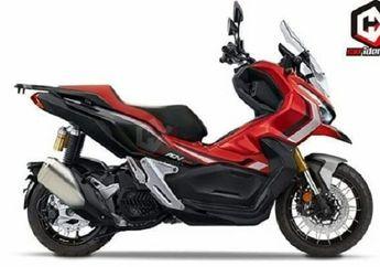 Modifikasi Digital Skutik Adventure Honda ADV 150 Sudah Beredar, Pelek Jari-jari dan Upside Down Terpasang