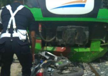 Tragis, Boncengan Naik Motor Honda Supra, Ayah dan Anak Tewas Tertabrak Kereta Bandara