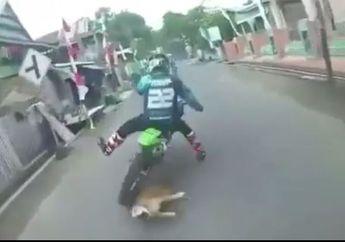 Video Kumpulan Crosser Terjatuh di Jalan Sempit Jadi Hujatan Netizen, Ternyata Ini Masalahnya