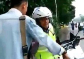 Tegang, Video Pemotor Ngamuk dan Marahi Polisi Gara-gara Helm, Dikasih Surat Tilang Langsung Diam