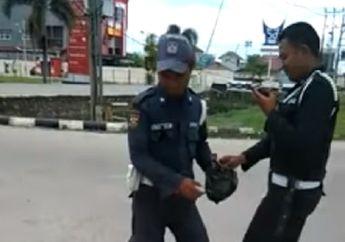 Sempat Bikin Geger, Dua Oknum Satpam Penyebar Ranjau Paku Tertunduk Lesu Saat Diringkus Polisi