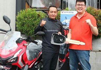 Mantap, 9 Hari Dilaunching Yuliansyah SE Jadi Pembeli Pertama Skutik Adventure Honda ADV 150