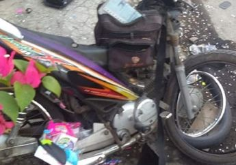 Ngeri, Honda Kharisma X Hancur, Ban Depan Copot Mainan Berserakan, Pemotor Tutup Usia