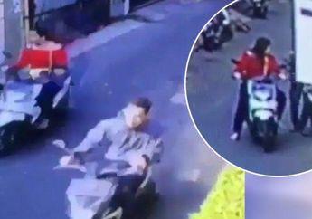 Video Dua Sejoli Kompak Mencuri Sepeda Motor, Sang Wanita Bertugas Mengawasi