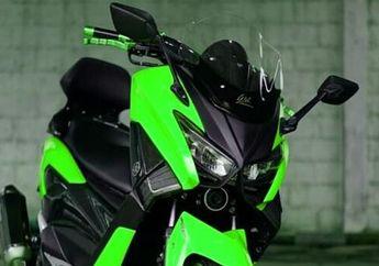 Bikin Kaget! Muncul Kawasaki NMAX Kelir Kawasaki Tapi Body Yamaha NMAX Facelift