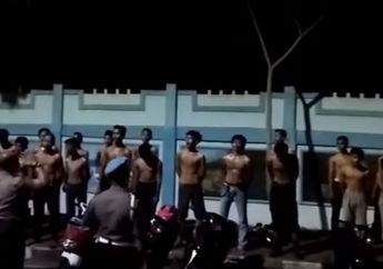 Heboh! Video Puluhan Pembalap Liar Kena Razia, Begini Hukuman Yang Diberikan Polisi