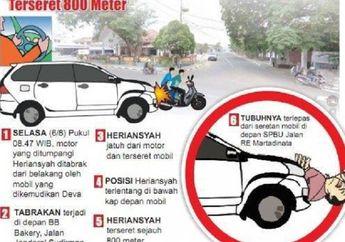 Warga Ketakutan, Pemotor Masih Hidup Setelah Terseret Toyota Avanza Sejauh 800 Meter, Terhempas di Pom Bensin