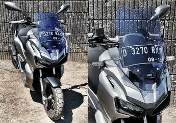Asyik, Geba Leisure Part Sediakan Windshield Honda ADV150, Tetap Bisa Naik Turun
