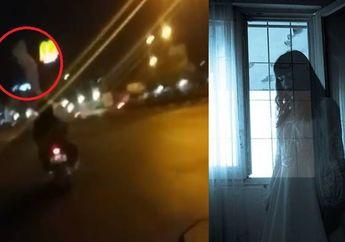 Bikin Merinding, Video Penampakan Pocong di Atas Kepala Pemotor Gak Sengaja Terekam Kamera
