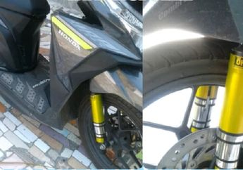 Honda Vario Makin Ganteng, Virus Cover Sokbreker Depan Warna-warni