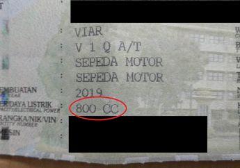 Ada yang Unik Nih di STNK Motor Listrik Viar Q1, Kok Tertulis 800 Cc?