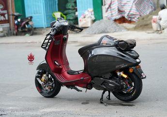 Sangar, Modifikasi Vespa Sprint Bergaya Racing, Nunduk Banget Bro!