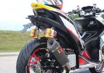 Yamaha Aerox Berani Main Warna, Setang Telanjang, Sokbreker Belakang Pakai Ohlins