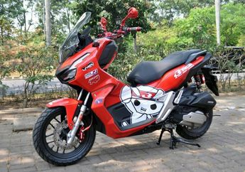 Racun Baru Honda ADV150, Pakai Raiser Setang RCB Badan Makin Tegap