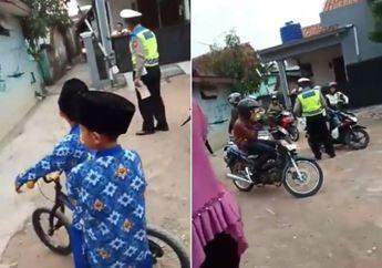 Netizen Melongo, Video Polisi Razia Motor Sampai Gang Sempit Jadi Viral, Pemotor Gak Berdaya