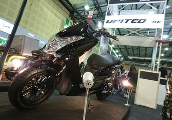 Bikin Melongo, United Bike Bikin Motor Listrik Mirip PCX, Udah Monosok, Bisa Lari 100 Km/Jam