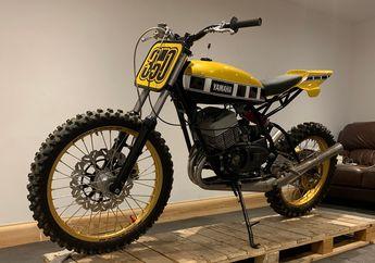 Awalnya Cuma Pasang Ban Motocross, Yamaha RD350 Ini Malah Kebablasan Jadi Flat Tracker