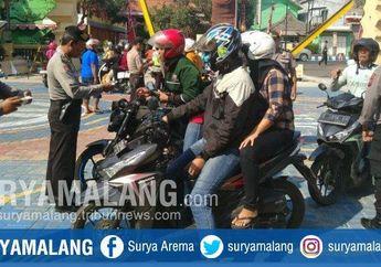 Koplak, Rupa-rupa Cara Pemotor Ngeles Dari Razia Operasi Patuh 2019 di Mojokerto