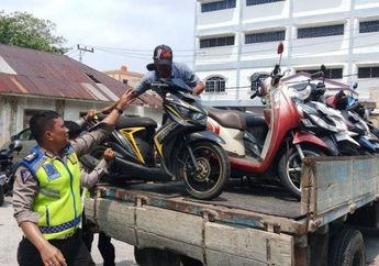 Banyak yang Enggak Bawa Surat-surat, Ratusan Pengendara Motor di Daerah Ini Ditilang