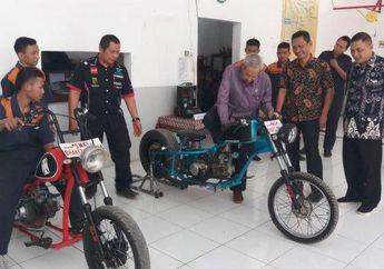 Cuma Modal Rp 6 Juta, Siswa SMK Rakit Motor Kustom Mirip Chopper Jokowi