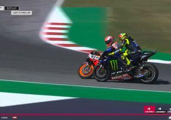 Gokil! Duel Rossi vs Marquez Kembali Panas di Kualifikasi MotoGP San Marino, Marquez Gagal Pole Position