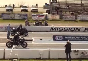 Bikin Dengkul Gemetar, Video Suzuki Hayabusa 3 Kali Pecundangi Kawasaki H2, Kapasitas Mesin Beda Tipis