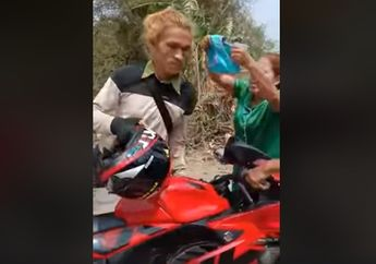 Parah Banget, Pengendara Suzuki GSX-R150 Gak Berkutik Dikepung Emak-emak, Gara-gara Celana Dalam