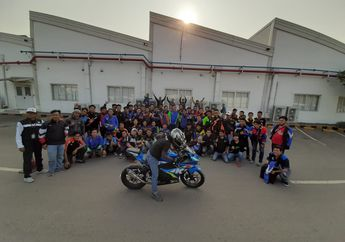 Gokil! Komunitas Motor Suzuki Adakan Coaching Clinic Safety Riding dan Defensive Riding Training