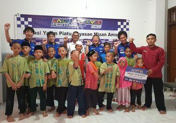 Mantap, Tim Yamaha Racing Indonesia Serahkan Hadiah Balap Ketahanan Untuk Yatim Piatu