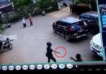 Terekam Kamera CCTV, Maling Motor yang Kegep Saat Beraksi Langsung Todongkan Pistol ke Korban