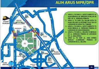 Rekayasa Lalu Lintas di Sekitar Gedung MPR/DPR, Bikers Tidak Bisa Tembus dan Cari Jalan Lain