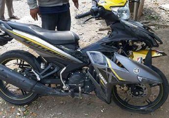 Bodi Yamaha MX King Acak-acakan, Mahasiswa Nyungsep di Aspal, Telapak Tangan Korban Terluka