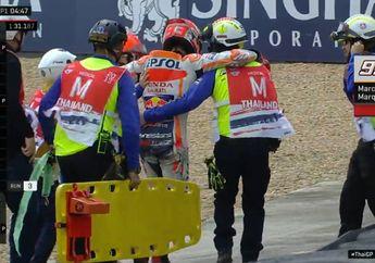 Dibawa Ke Rumah Sakit, Marc Marquez Crash di FP1 MotoGP Thailand, Diduga Ini Biang Keroknya