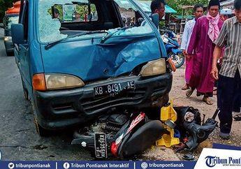 Merinding. Kecelakaan Adu Banteng Terjadi Lagi, Honda BeAT Masuk Kolong Daihatsu Zebra