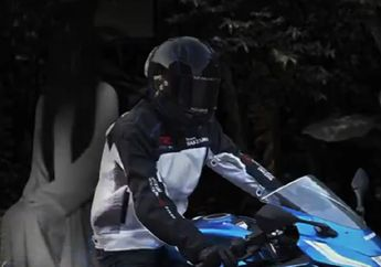 Bikin Merinding, Pemotor Suzuki GSX-R150 Tertangkap Kamera Bonceng Kuntilak