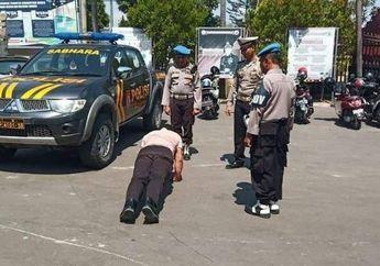 Mobil Patroli Lawan Arus Diviralkan Pemotor, Oknum Polisi Ditindak Kapolres Suruh Push Up