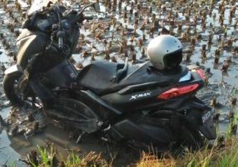 Warga Gak Berani Mendekat, Video Yamaha XMAX Misterius Ditinggalkan Pemiliknya di Sawah