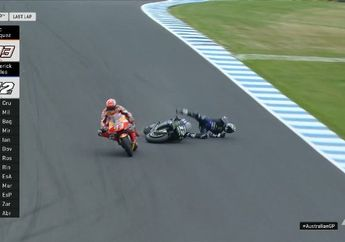 Gimana Gak Nyesek! Jatuh Di Lap Terakhir, Maverick Vinales Gagal Juara MotoGP Australia 2019