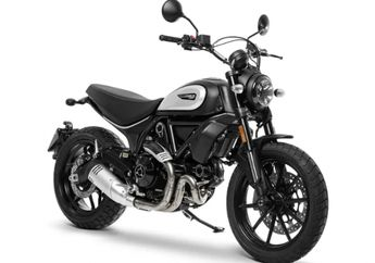 Body Membulat dan Padat, Ducati Scrambler Icon Dark 2020 Tampil Serba Hitam, Bikin Kepengan