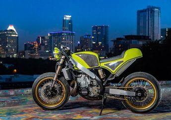 Melawan Kodrat, Motor Penggaruk Tanah Kawasaki KX500 Berubah Total Jadi Cafe Racer