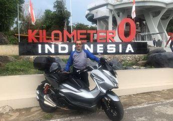 Kisah Faryd Sungkar Turing Ke KM 0 Naik Honda Forza, Hindari Makan Nasi Siang Hari