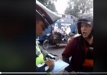 Kejadian Lagi, Video Pemotor Ngamuk Maki-maki Polisi, Sampai Bilang Jadi Trauma Ketemu Razia