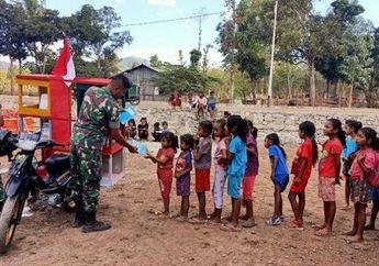 Keren, Tentara Punya Motor Pintar Keliling Kampung, Jadi Idola Para Anak-anak, Begini Isinya