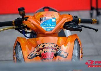 Bikin Pangling, Modifikasi Honda Vario 150 Berbalut Decal Juara MotoGP 2019 Marc Marquez