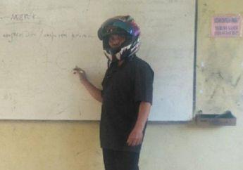 Guru di SMPN 3 Bayat Jadi Buah Bibir Gara-gara Mengajar Pakai Helm Full Face, Ternyata Alasannya Bikin Sedih