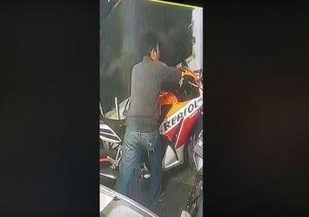 Pelaku Pasti Gak Bisa Tidur, Wajah Maling Honda CBR 150 Repsol Terekam Jelas di Kamera CCTV