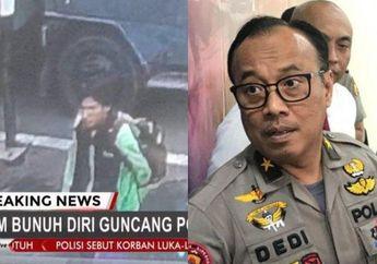 Suasana Langsung Mencekam, Detik-detik Driver Ojol Terekam CCTV Meledakkan Bom di Mapolrestabes Medan